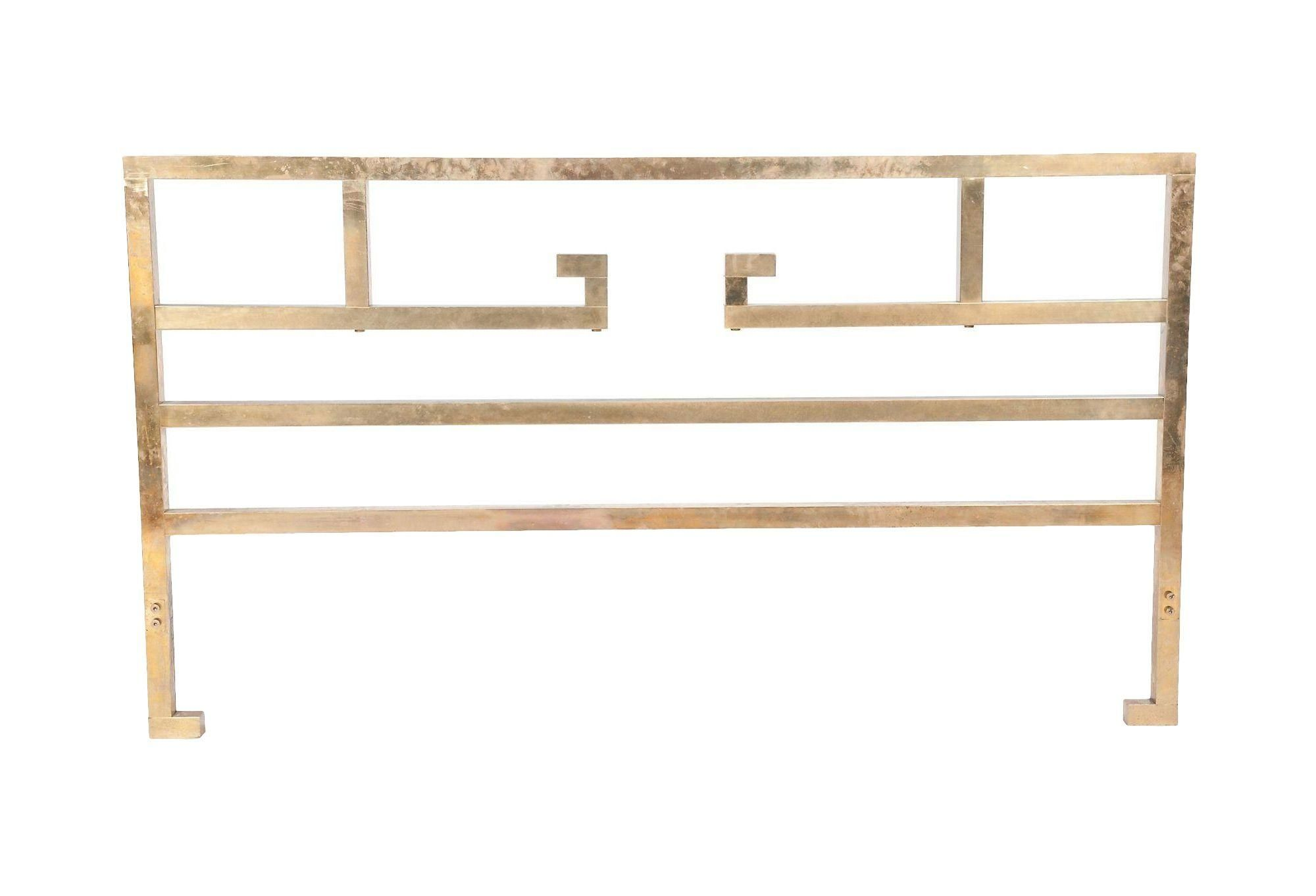 this 20th century brass queen size headboard is attributed to mastercraft with a stunning gold