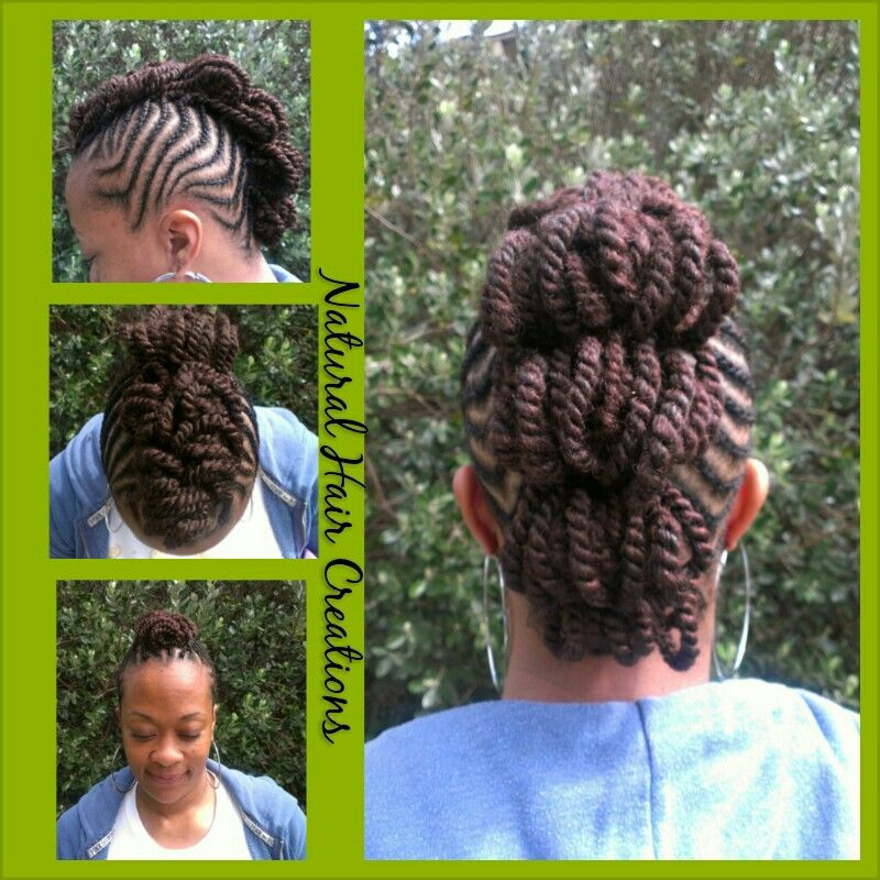 Cornrow Kinky Twists Mohawk Style Natural Hair Creations