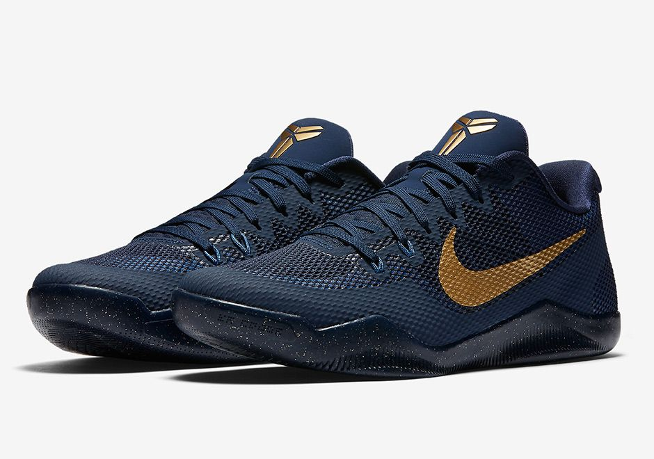 watch ae924 0d4d6 sneakers news Nike Kobe 11 Releasing In Navy And Gold
