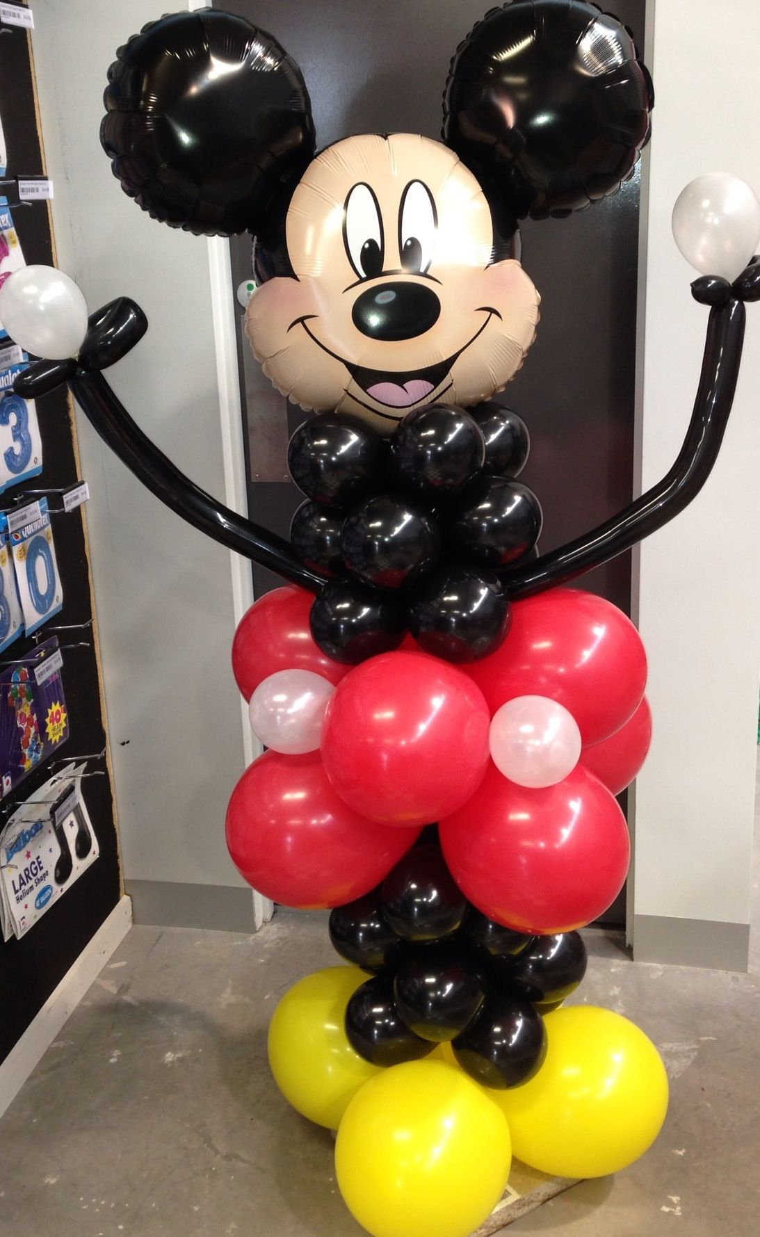 Mickey mouse floor decoration. By Let's Celebrate Parties Point Cook.