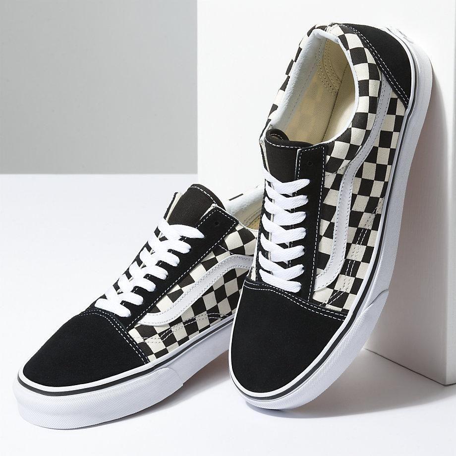 vans bas noir & blanc