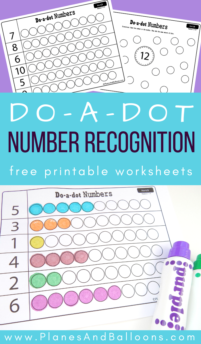 Dot marker number recognition worksheets is part of Numbers preschool, Number activities preschool, Preschool math, Kindergarten math, Teaching preschool, Preschool prep - Inside Fun free printable dot marker activity for number recognition  Children learn to recognize numbers at the very beginning of the school year in kindergarten  Depending on the child's level, some might acquire this basic math skill during preschool as well  So whether your child is working on her singledigit numbers or has already advanced to teen numbers, these number recognition dot marker worksheets will be a lot of fun to do! Number recognition worksheets 120 This number activity is quite simple  First, children need to read the number  Then make a matching amount of dots  The fun part is