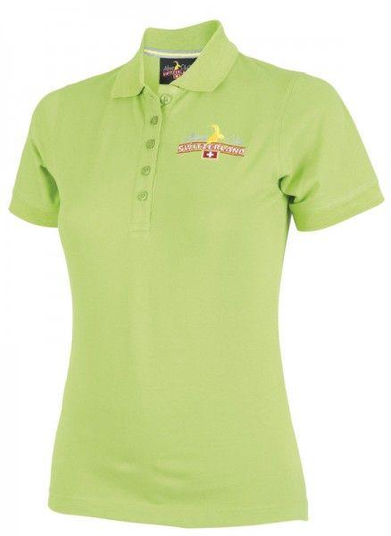 exklusives Sortiment angemessener Preis tolle Passform Damen Poloshirt, grün | Swiss T-Shirts / Switzerland Shirts ...