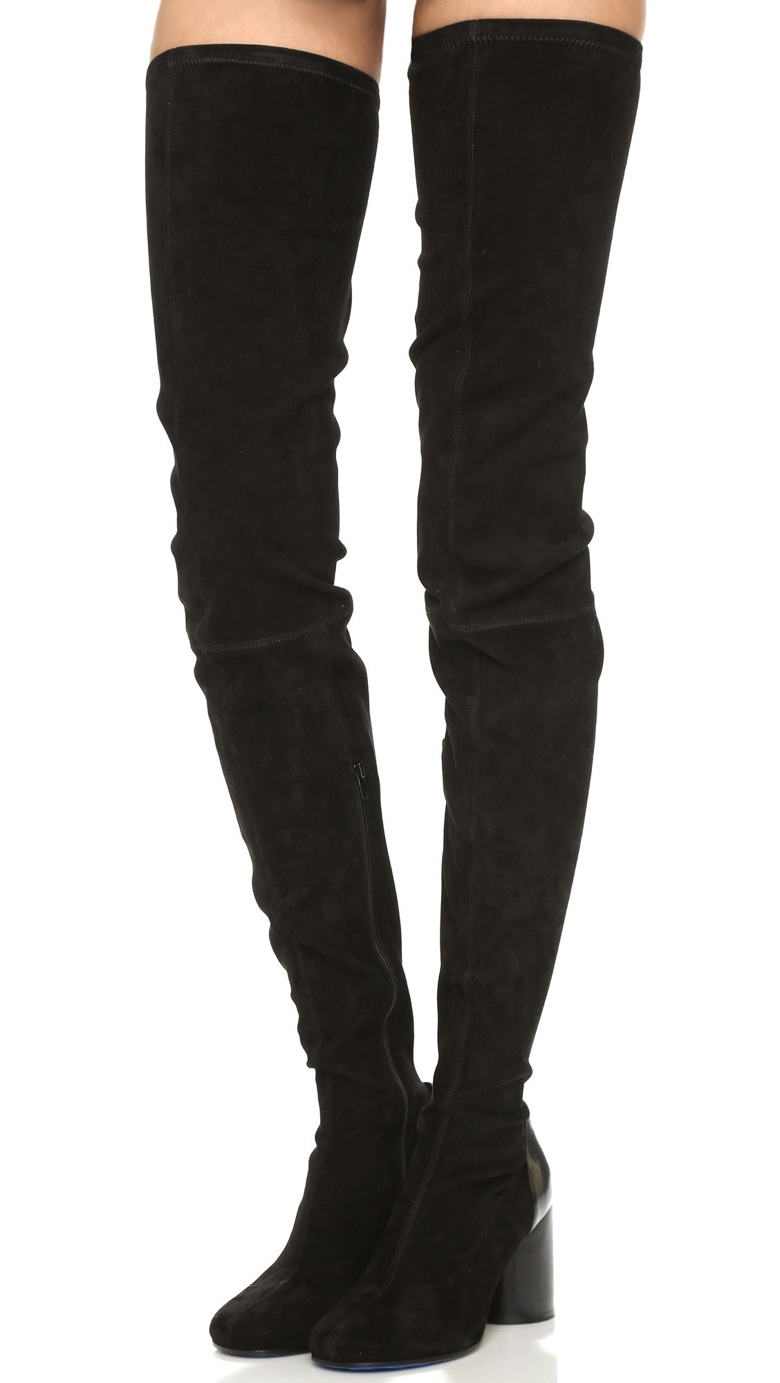 Maison Margiela Denim Knee-High Boots clearance latest 2014 new for sale discount hot sale mVwSoYXL07
