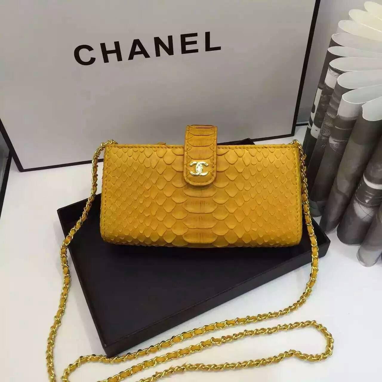 Chanel new style Dinner package dark yellow black  size:18x9x5cm CH3 whatsapp:+8615503787453