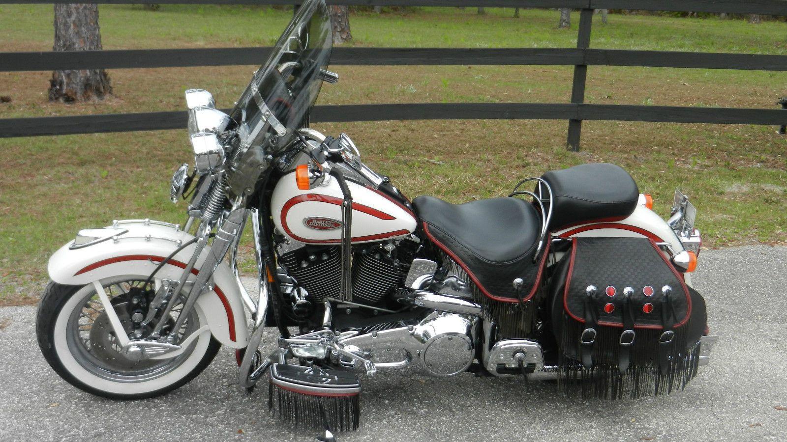 Harley Davidson Softail 1997 Harley Davidson Heritage Springer Softail Flsts Harley Davidson Bikes Harley Davidson History Harley Bobber [ 900 x 1600 Pixel ]