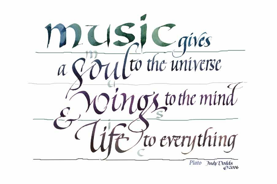 Quote About Music Custom Music Give A Sould To The Universe Wings To The Mind And Life To .
