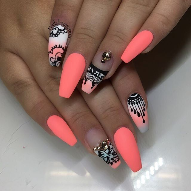 10 Pics Of Summer Nails Ideas Summer Nails Acrylic Nails Style