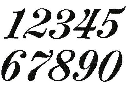 45 Fancy Numbers Clipart