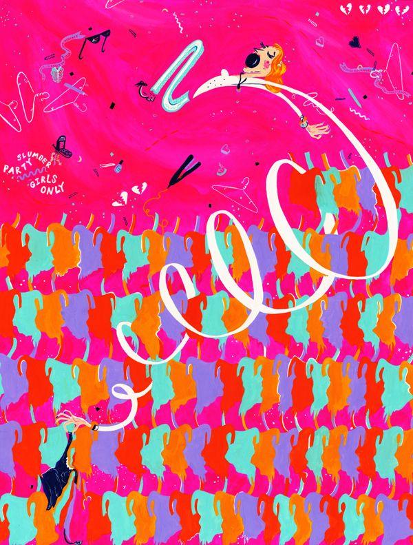 Neon Light Portrait On Behance: Enthusiasm By Leanna Perry, Via Behance