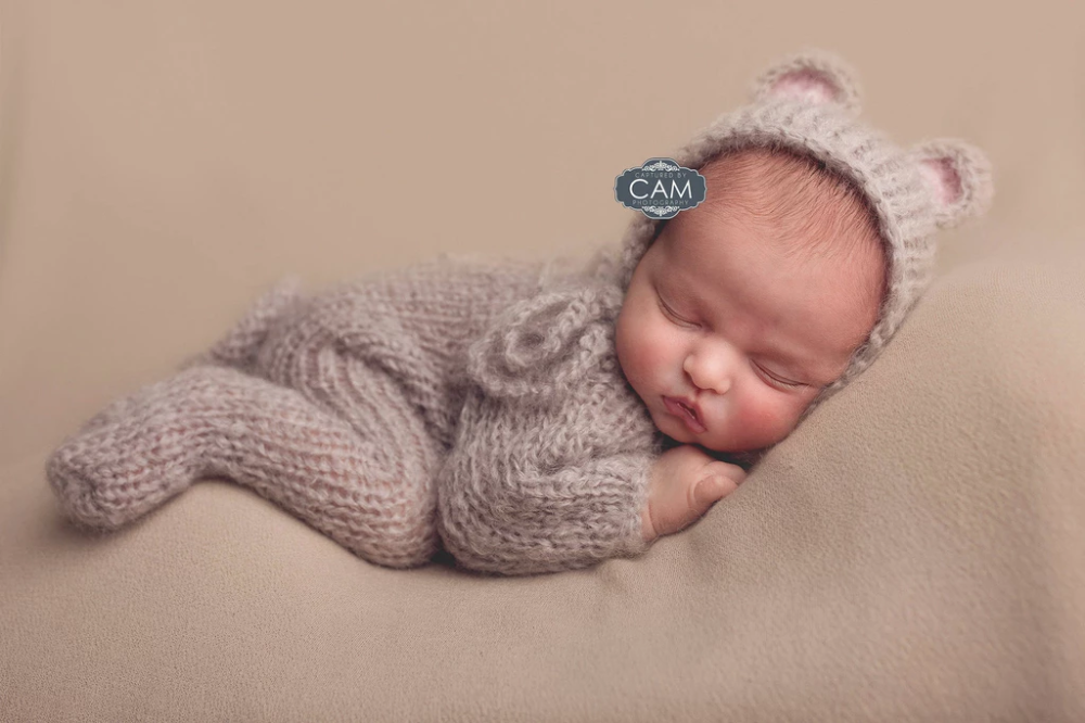 Newborn Baby Stretch Crochet Knit Wrap Cocoon Swaddle Photography Photo Props UK