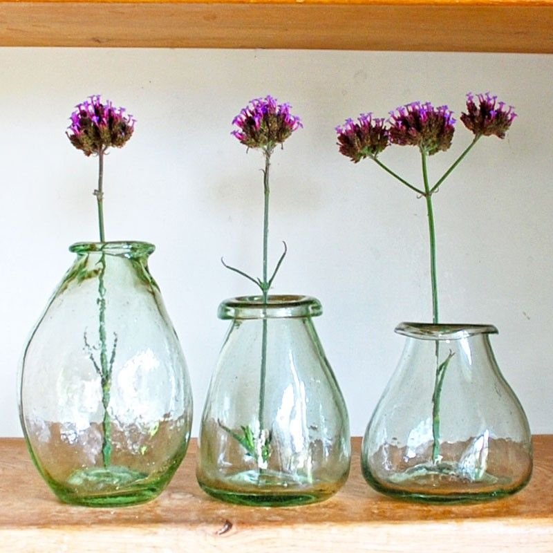 Trio Of Vases Set Of 3 Recycled Glass Vases From Hen And Hammock