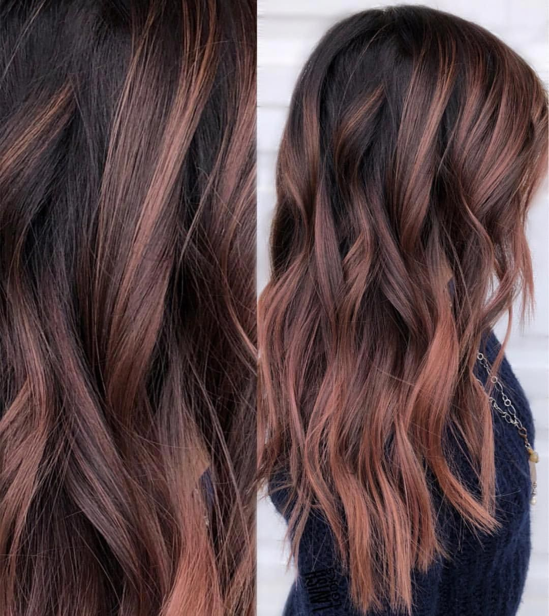 New Totally Free Rose Gold Hair brunette Style If you have ever considered the wild hair coloring trends upon your public media channels nourish th #brunette #Free #Gold #Hair #Rose #Style #Totally #winterhaircolor #fallhaircolorforbrunettes