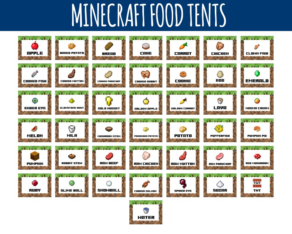 It's just a graphic of Minecraft Free Printable Food Labels with rainbow