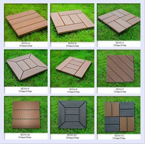 Patio Tiles Outdoor Diy Wpc Deck Tile Wood Floor Plastic Composite