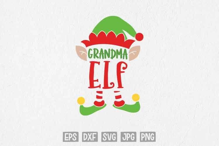 Download Grandma Elf SVG, Christmas SVG, Family Elf Christmas SVG ...
