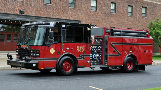 Custom Blacked Out Fire Pumper Built By Ferrara Delivered To Monell Pa Fire Company Fire Trucks Fire Dept Cool Trucks