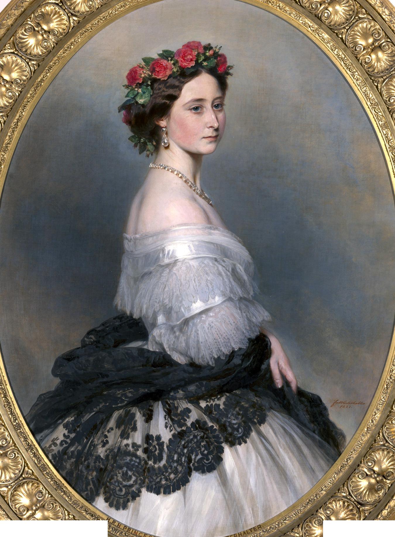 1861   Alice of Saxe-Coburg and Gotha (1843-1878)   Franz Xaver Winterhalter (1805-73)