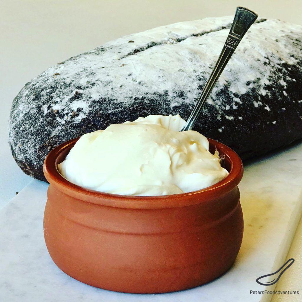 Ever Wondered How To Make Homemade Sour Cream The Original Russian Name Is Smetana Smetana Homemade Sour Cream Sour Cream Recipes Homemade Sour Cream Recipe