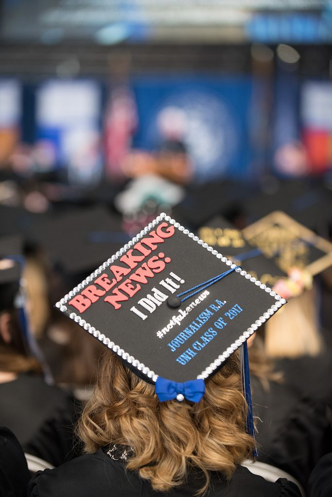 2017 Unh Durham Commencement Honors Ceremony Decorated Mortarboard