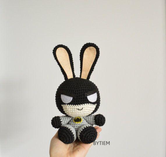Batman Bunny, Batman Baby shower, Superheroes, Avenger, Cotton yarn ...