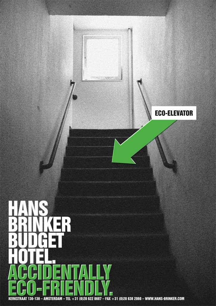 Hans Brinker Budget Hotel: Eco-elevator