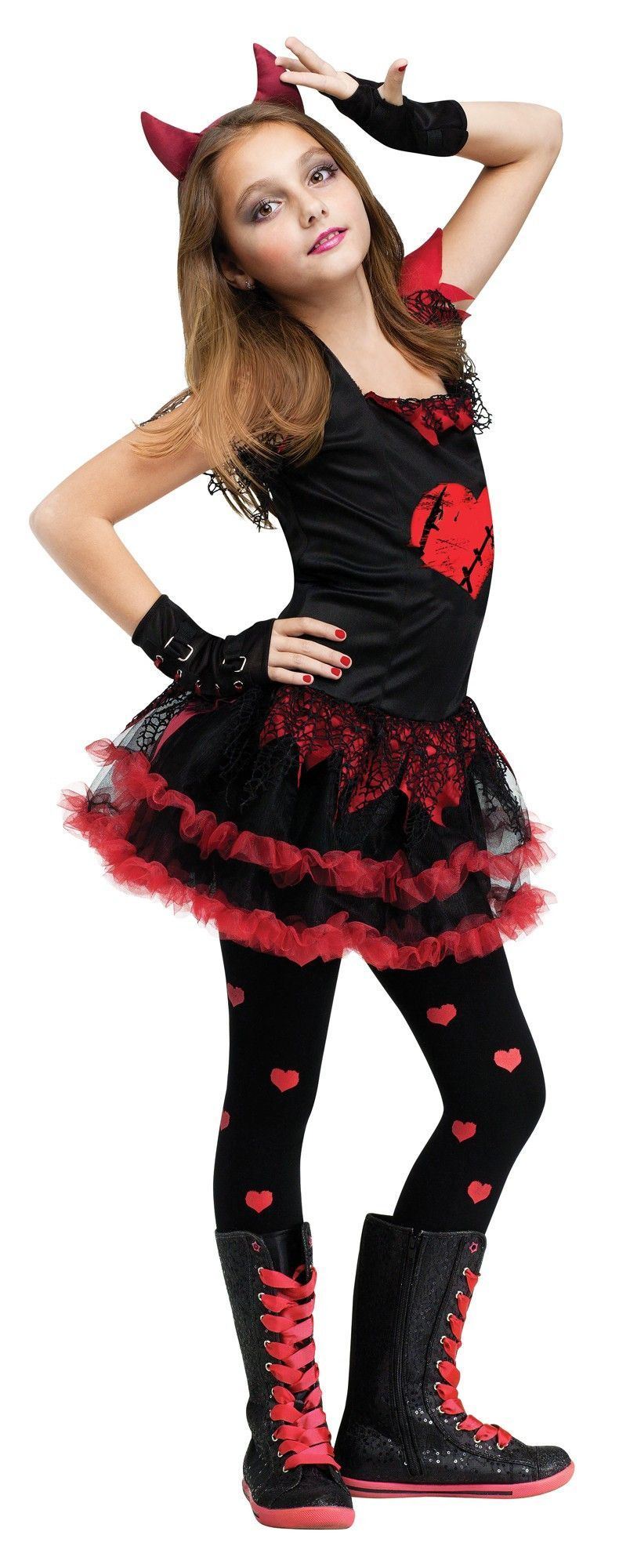 kid scary halloween costumes devil diva u0027s costume footless tights costumes