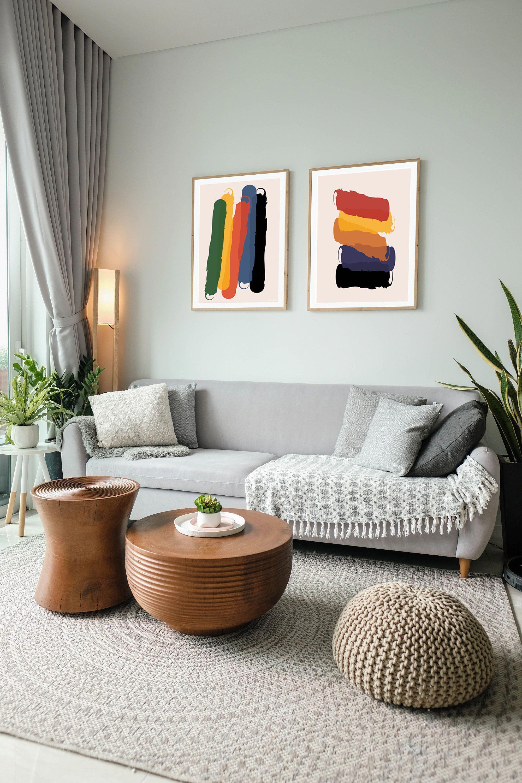 Colorful Minimal Abstract Printable Wall Art Minimalist Etsy In 2021 Living Room Decor Interior Design Living Room Wall Decor Living Room Abstract living room decor