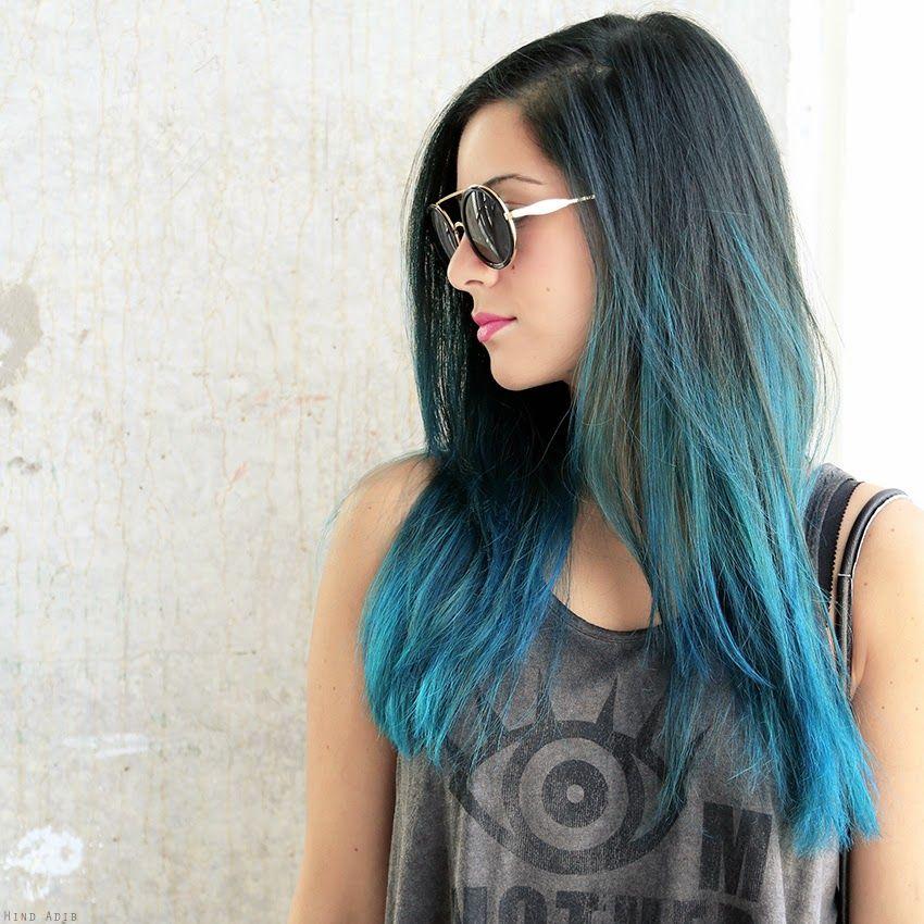 Tutorial Faq Manic Panic Hair Dye Dyed Hair Blue Ombre