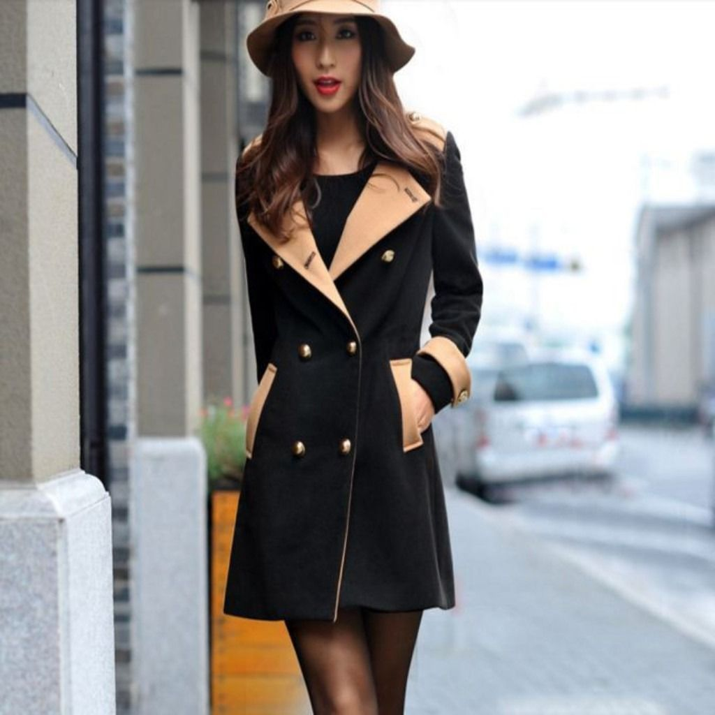 Double Breasted Two Toned Women Jacket