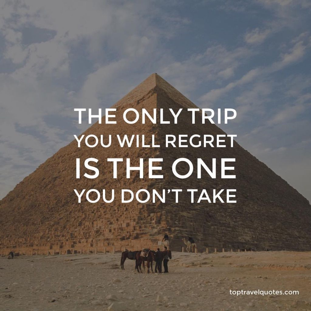 The only trip you will regret... Travel quotes, Trip