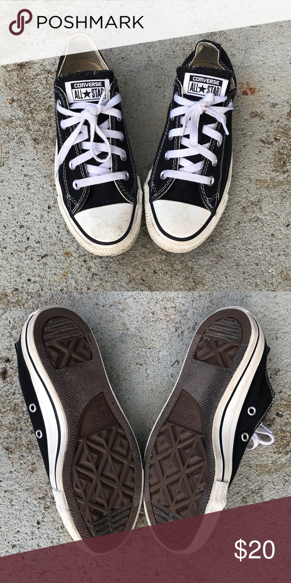 21658c1a50ec Black and white converse. Size 4 in MENS. MENS 4. WO S 6. UK 4. EUR 36.5 CM  23 ..... I am a size 8 in women s and these fit nice and snug ...