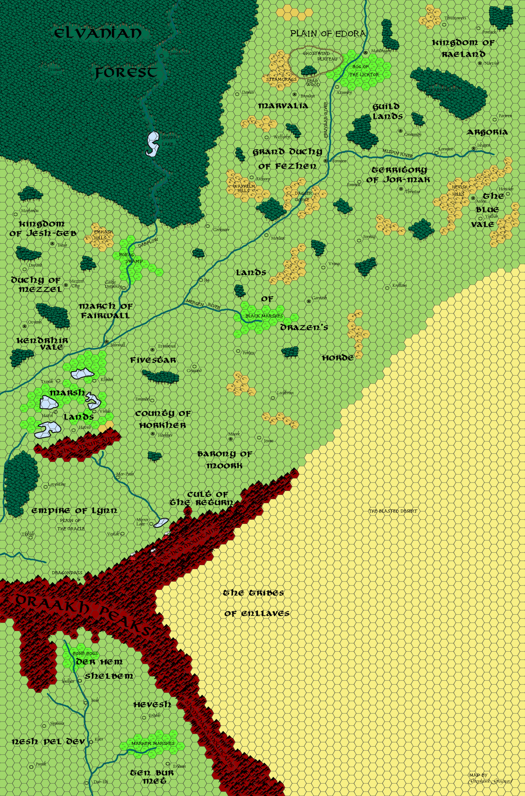 Nice Greyhawk Grognard: Mapping Beyond The Flanaess: The Sundered Empire And Lynn