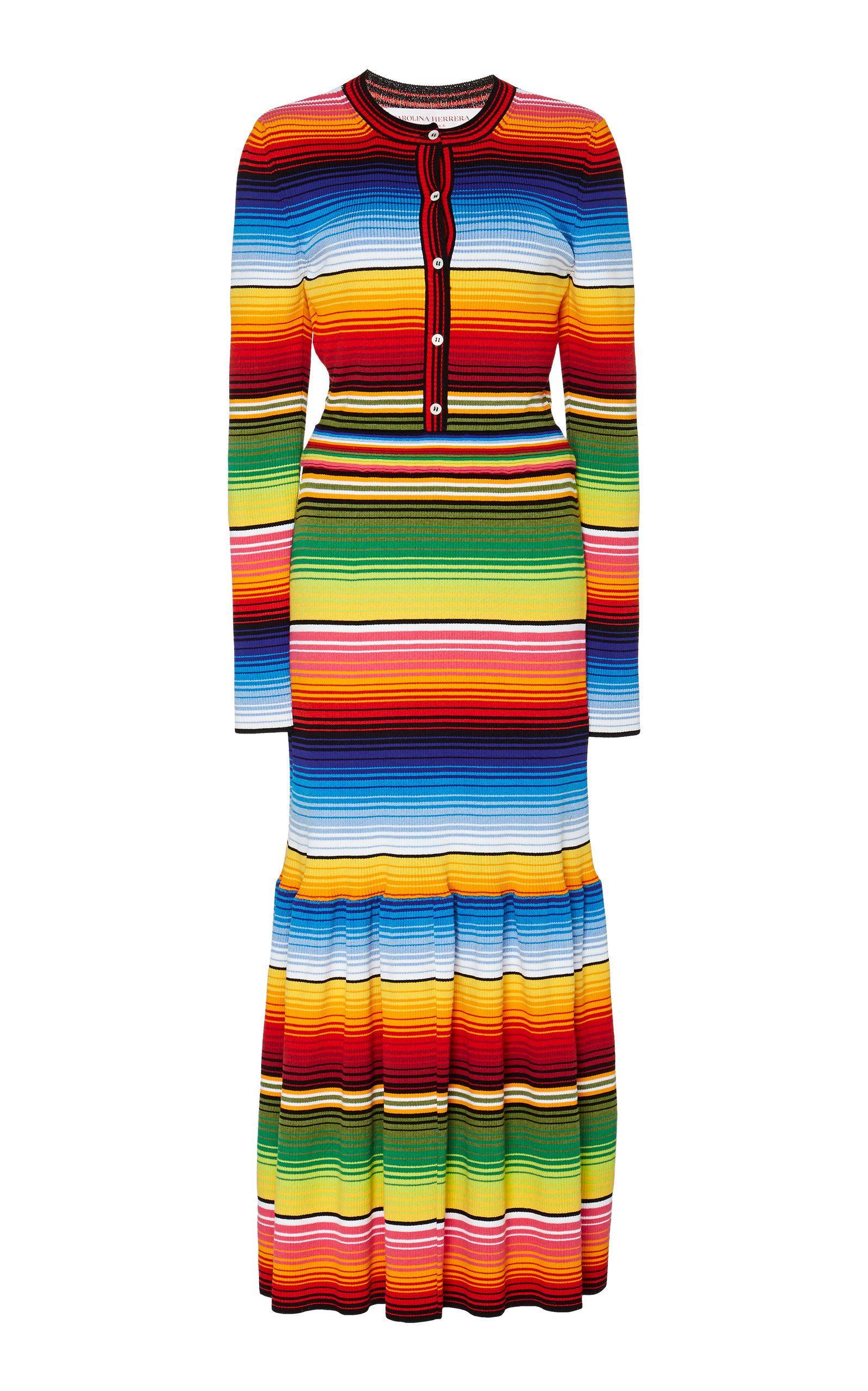 Cotton Blend Striped Knit Dress By Carolina Herrera For Preorder On Moda Operandi Carolina Herrera Striped Knit Dress Sweater Dress [ 2560 x 1598 Pixel ]