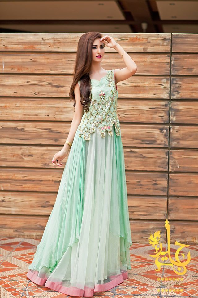 ferozi party wear long frock | Pakistani & Indian Party Wear ...
