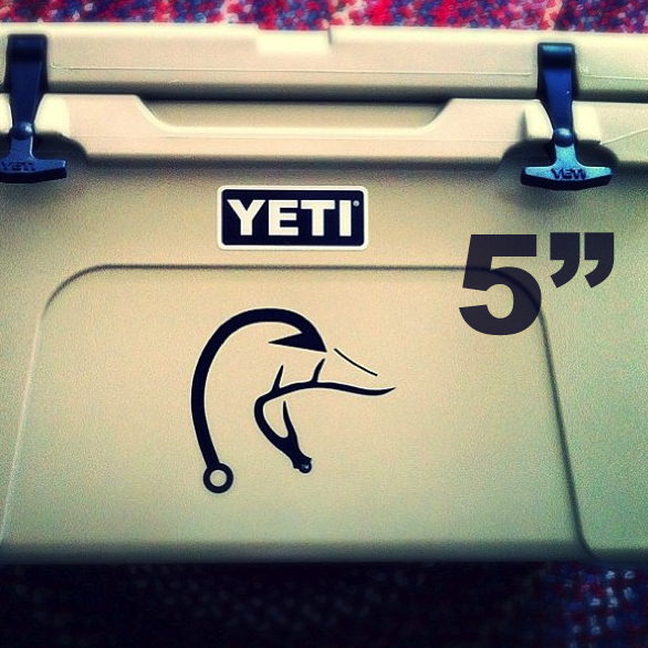 Boondux decals are great addition to any cooler for Fishing yeti decal