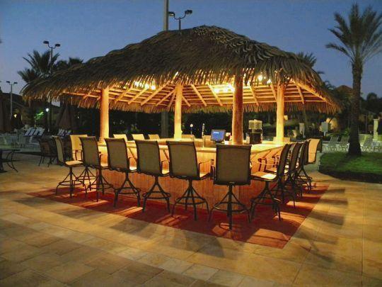 Backyard Bar Tiki Hut Tiki Bar Thatched Roof