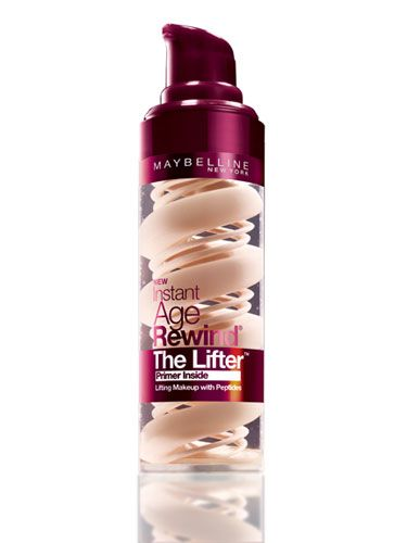 Maybelline New York Instant Age Rewind The Lifter Foundation ($14) has a built-in primer and is packed with anti-aging peptides that make your skin look firmer #maybelline #foundation #makeup