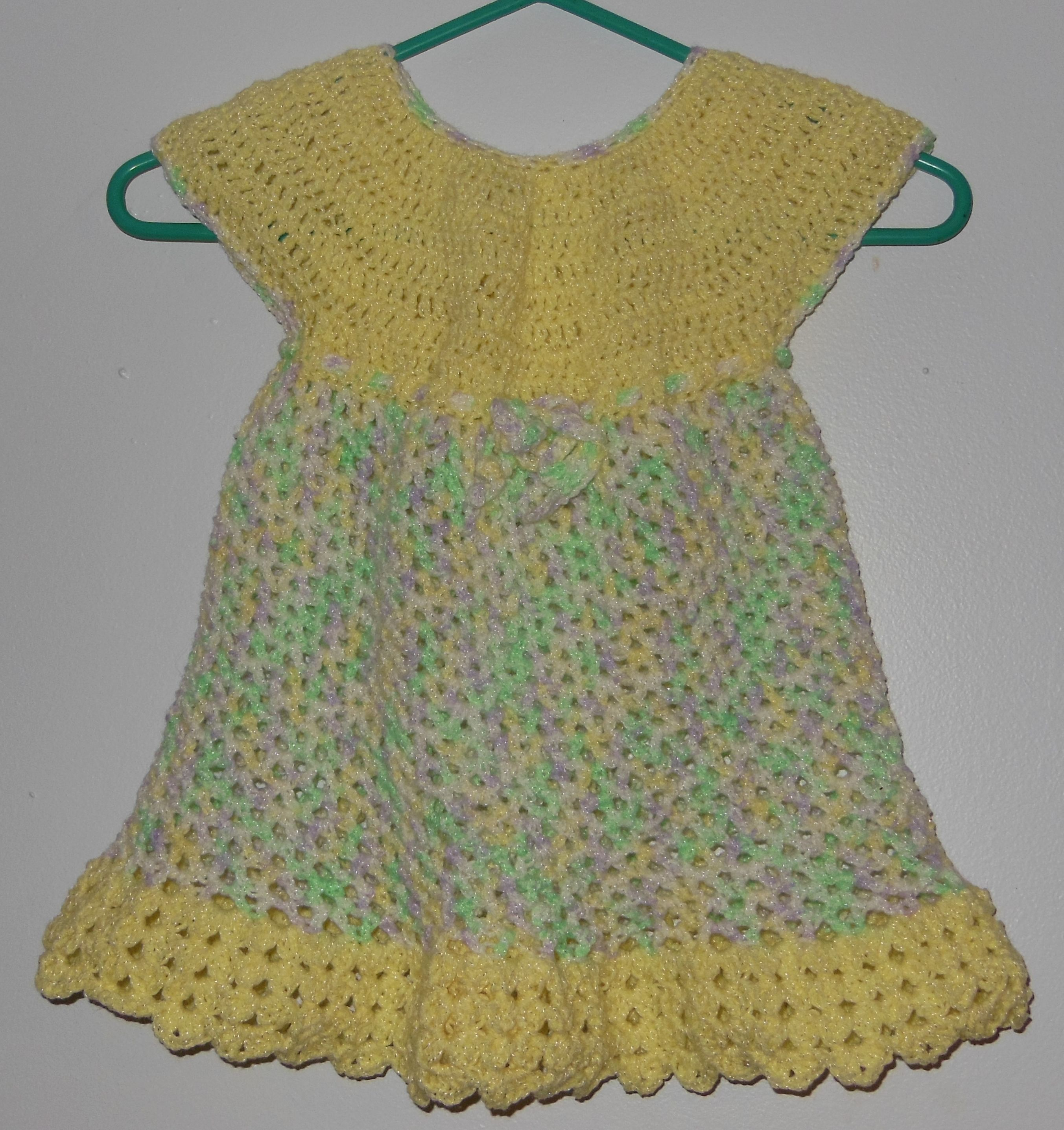 Dress I made for one of my 2 year old nieces using this pattern http://www.redheart.com/files/patterns/pdf/LW2900.pdf