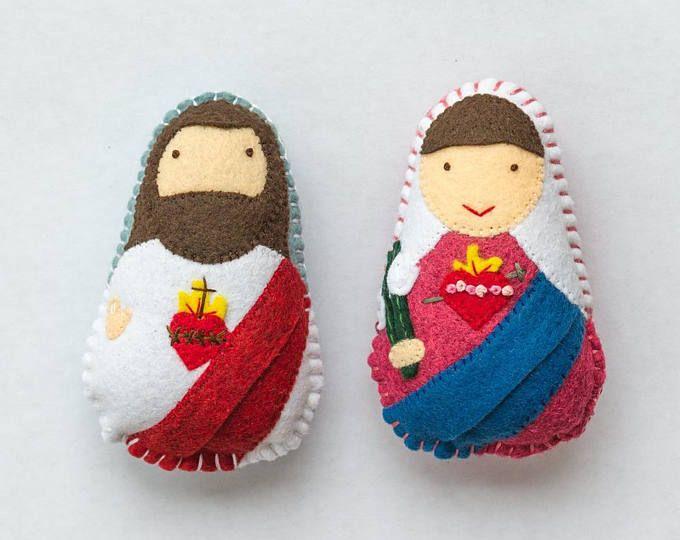 Sacred and immaculate heart felt saint dolls catholic toys felt explore felt dolls sacred heart and more negle Choice Image