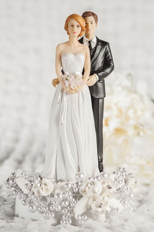 Full wedding topper with redhead bride