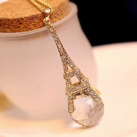 SHARE & Get it FREE | Fashion Rhinestone and Crystal Embellished Eiffel Tower Pendant Alloy Sweater Chain NecklaceFor Fashion Lovers only:80,000+ Items • New Arrivals Daily • FREE SHIPPING Affordable Casual to Chic for Every Occasion Join RoseGal: Get YOUR $50 NOW!