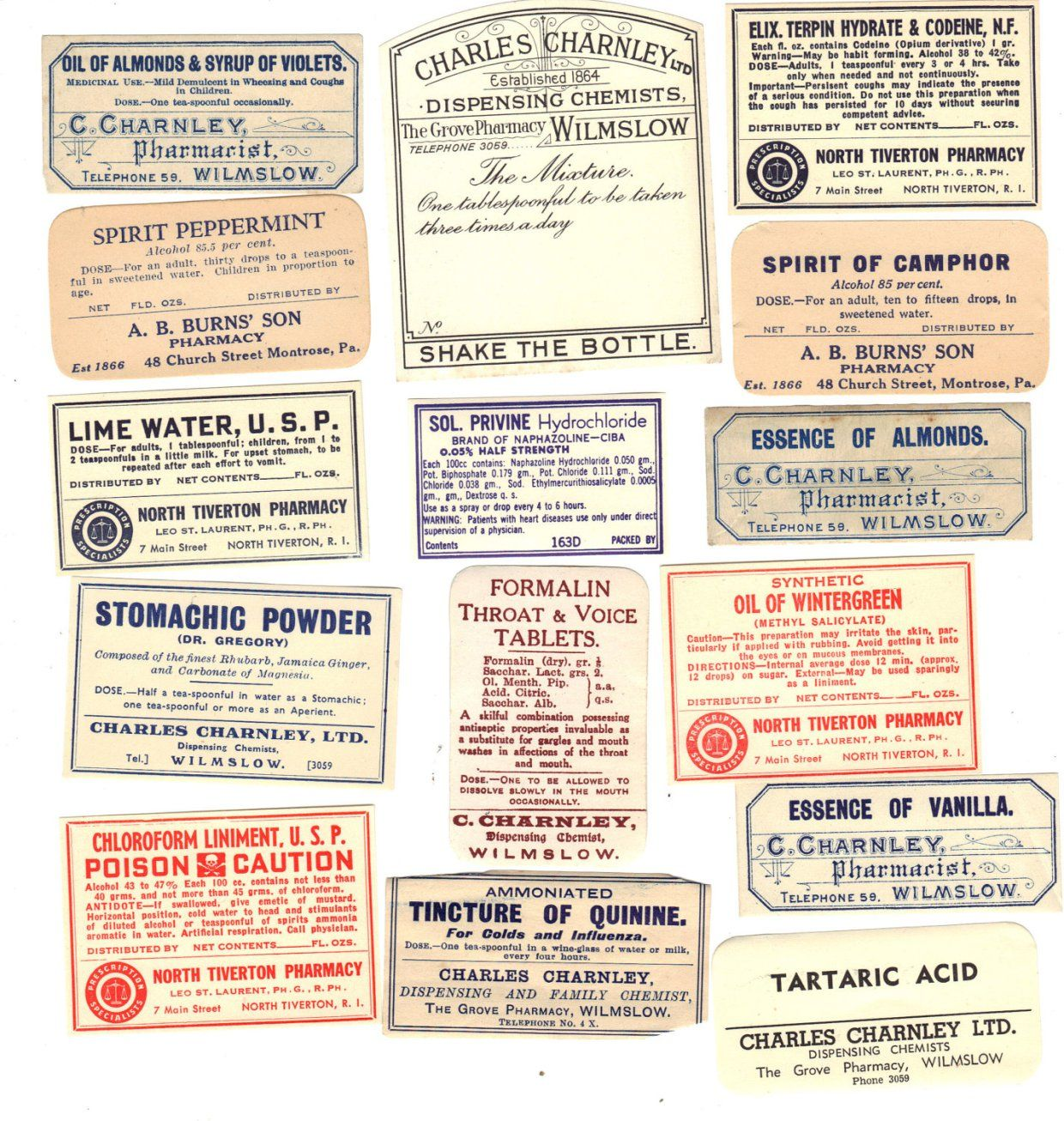 Old Chemist Labels 3