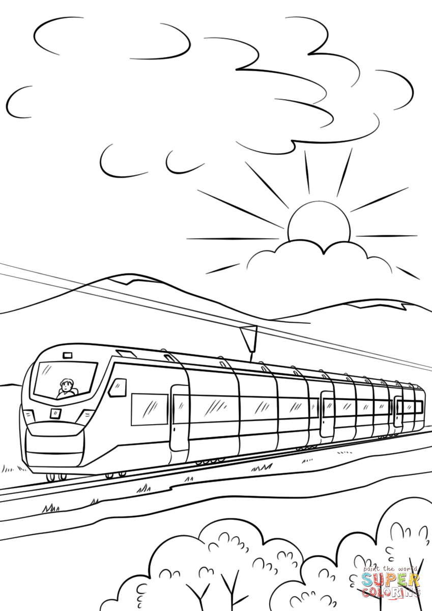 Intercity High Speed Train Coloring Page From Trains Category Select From 29179 Printable Crafts Of Train Coloring Pages T Is For Train Disney Coloring Pages