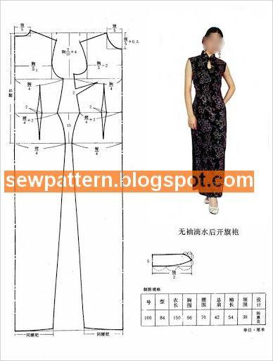 Sew Pattern باترونات مفصلة لفساتين صينية Chinese Dress Fashion Dresses