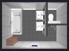 plattegrond kleine badkamer - Google zoeken | Haus | Pinterest