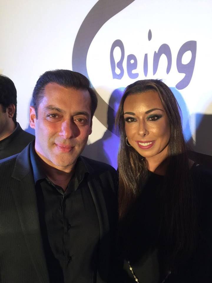 Ms. Debbie Azar, co-founder of GSI with Bollywood Superstar Salman ...