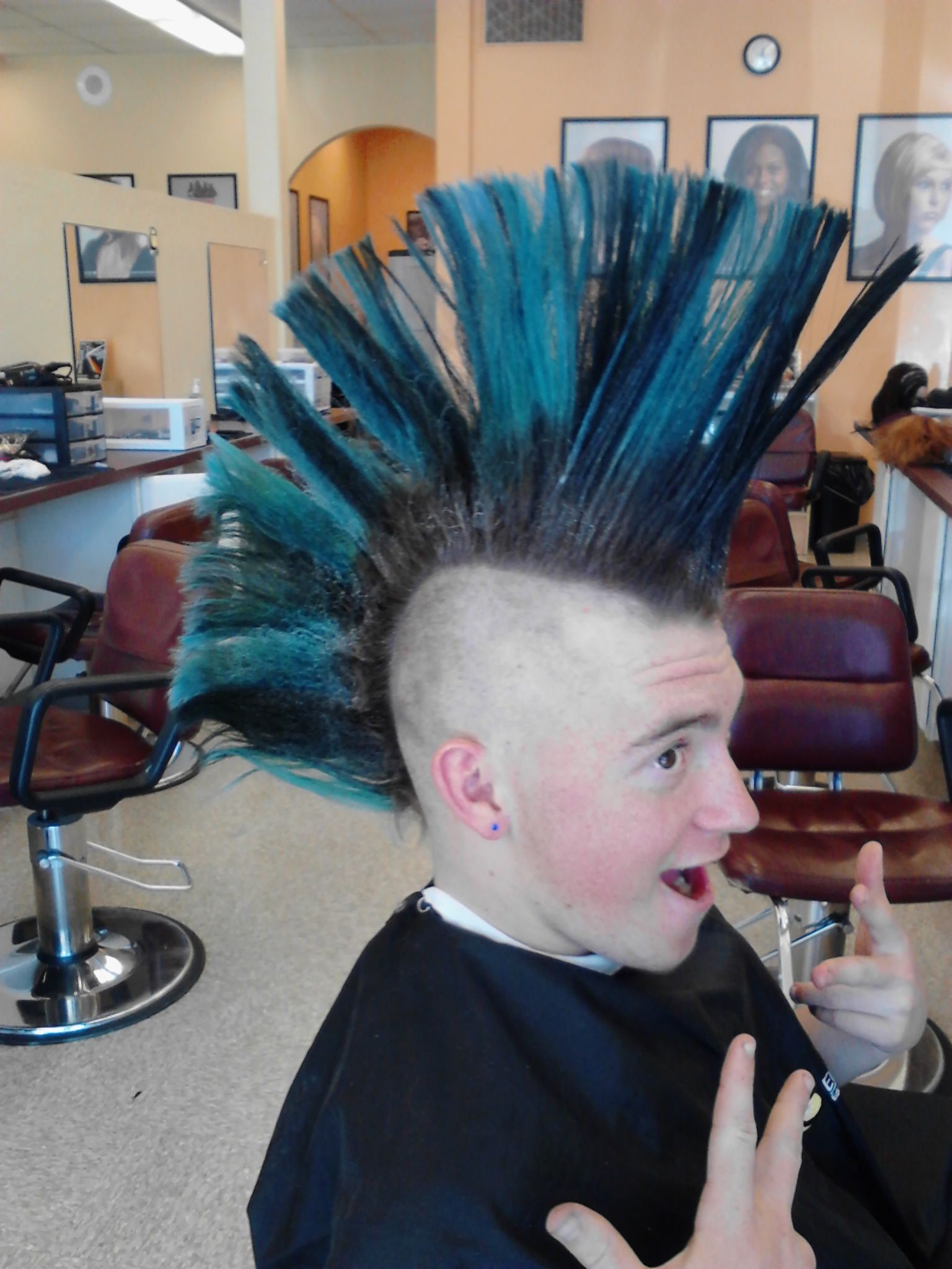My first mohawk my beauty school pinterest mohawks and hair style