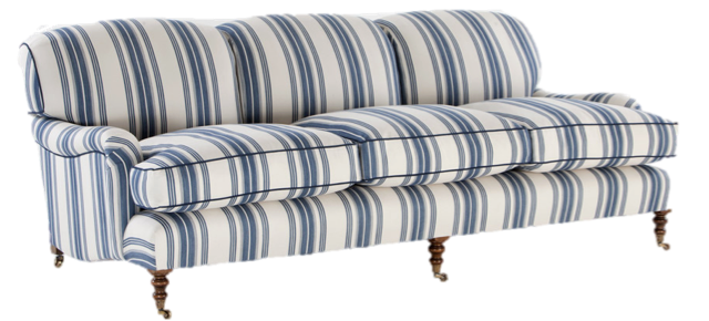 Blue Stripe Sofa | Verandah House … | Our New English Cottage in ...