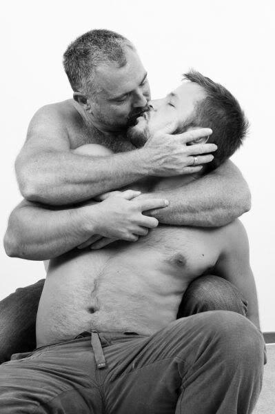 Hairy bear kiss